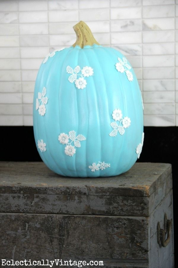 Decopauge Lace Pumpkin | Community Post: 39 Outside-The-Box Pumpkin Ideas