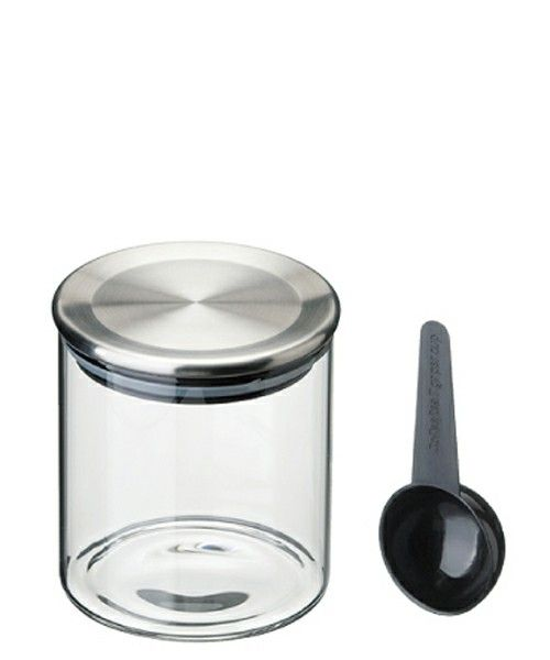 CIBONE KITCHEN(シボネキッチン)のガラスキャニスター 400ml / GLASS CANISTER(キッチンツール) シルバー