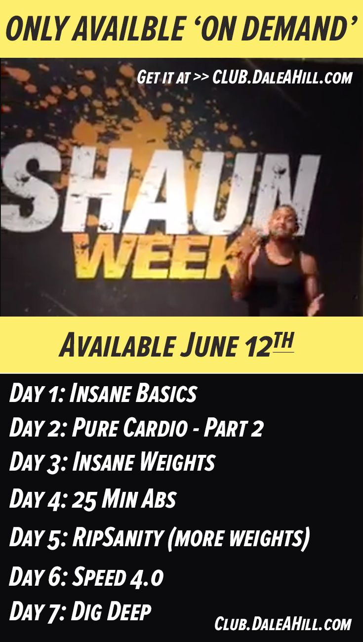 Brand NEW Shaun T. workout coming to Beachbody On Demand June 12th. Get ALL-ACCESS at CLUB.DaleAHill.com :)