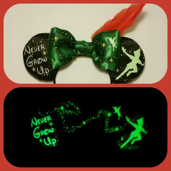 Glow in the Dark Peter Pan Ears Plush Peter Pan by Earsboutique