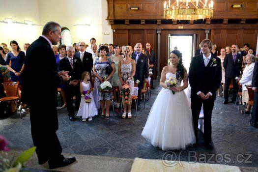 Svatební tylové šaty - 1