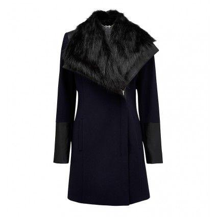 Annabelle contrast wrap coat Buy Dresses, Tops, Pants, Denim, Handbags, Shoes and Accessories Online