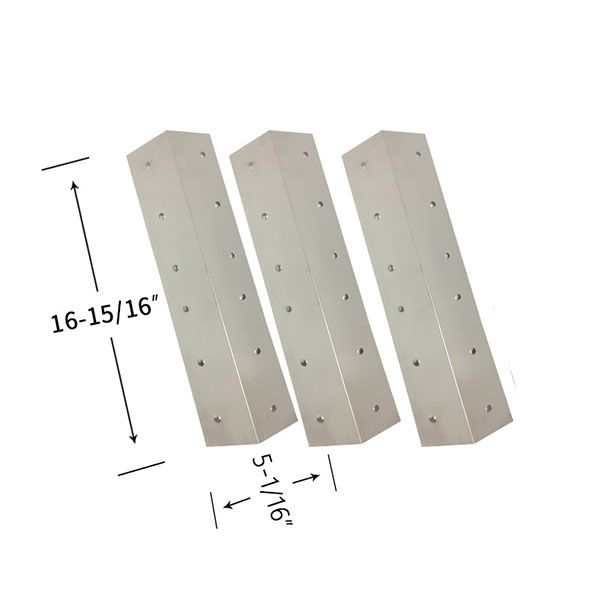 3 PACK STAINLESS STEEL HEAT SHIELD FOR GRILL ZONE 810-6345-T, BRINKMANN PRO SERIES 4040 GAS GRILL MODELS Fits Compatible Grill Zone Models : 810-6345-T, 810-6410-T, 810-6440-T, 810-6650-T, 810-6670-T Read More @http://www.grillpartszone.com/shopexd.asp?id=38026&sid=17429