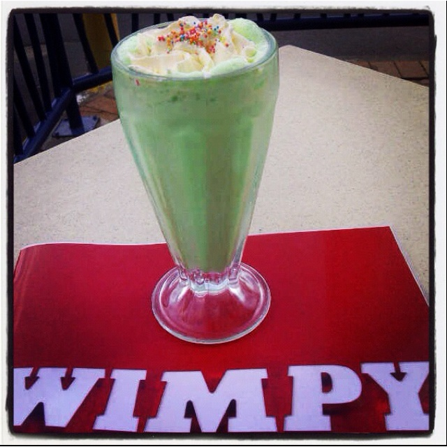 Wimpy lime milkshake -- just need chips with that :)