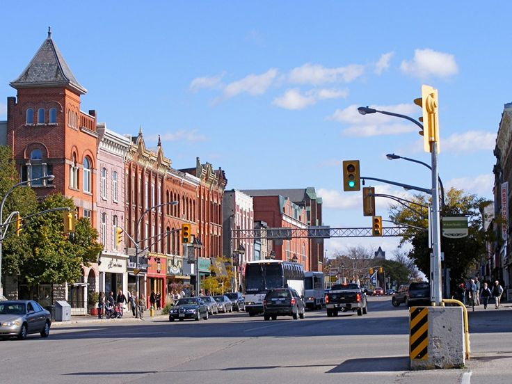 Ontario Street is the main drag of downtown Stratford, with everything from bars and cafes to chocolatiers and kilt shops // Photo by B. Alcer