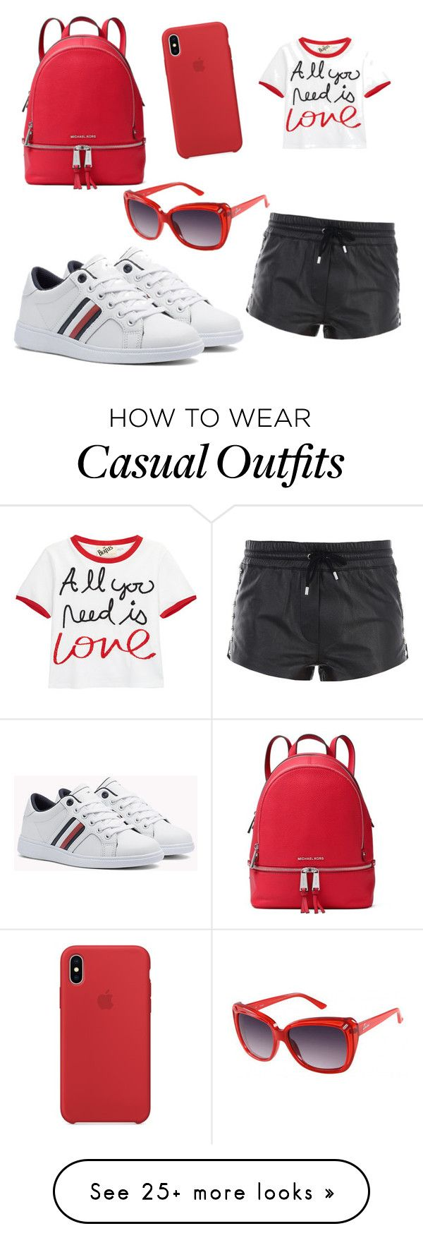 """casual day"" by lovefahion98 on Polyvore featuring Alice + Olivia, Moschino, MICHAEL Michael Kors and GUESS"