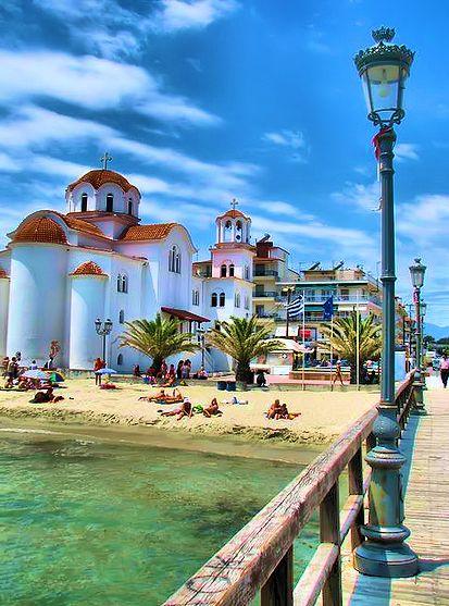 Beach in Katerini , Greece