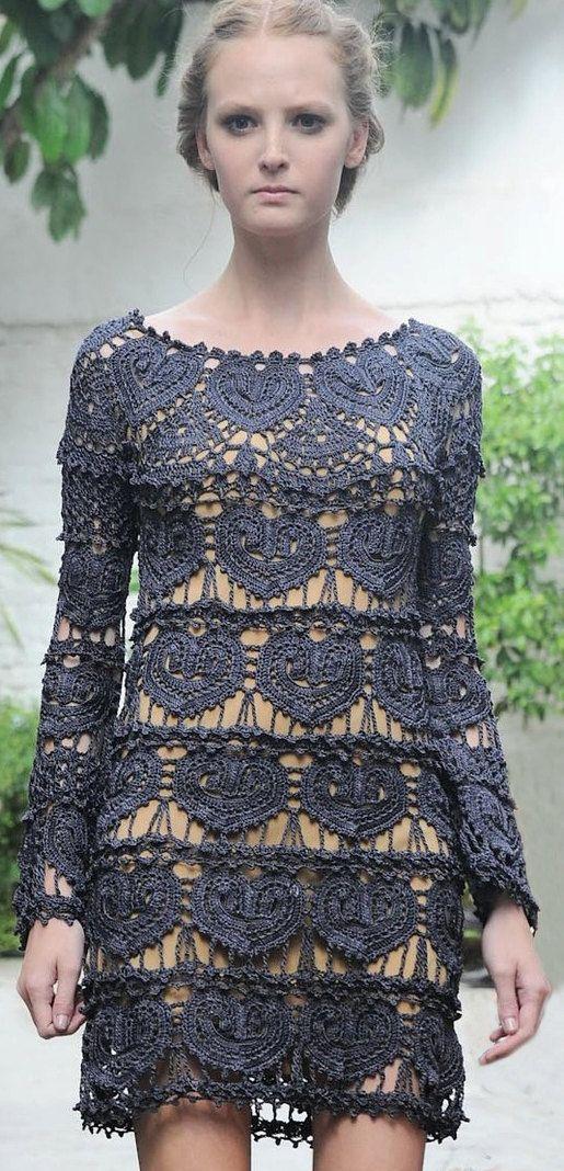 Crochet designer dress PATTERN sexy dress by OnlyFavoritePATTERNs