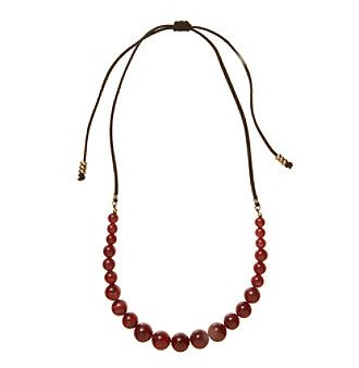 Ruff Hewn Beaded Berry Cord Necklace