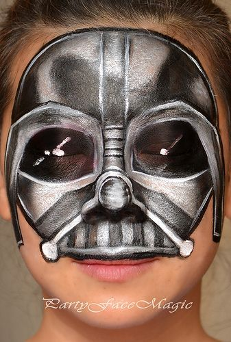 darth vader full face facepainting #FacePainting