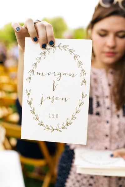sweet ceremony program | Lang Thomas #wedding
