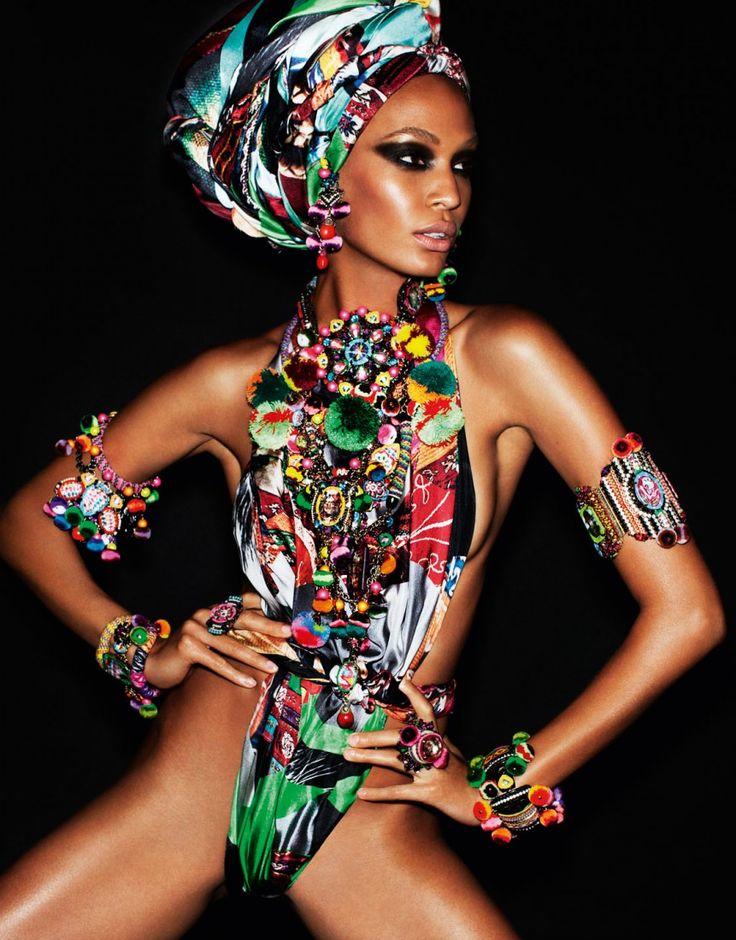 French Vogue, Joan Smalls, April 2013   Mario Testino