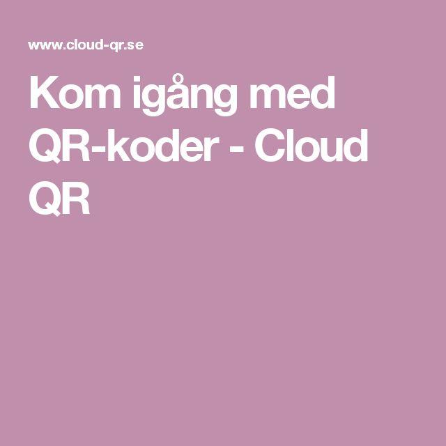 Kom igång med QR-koder - Cloud QR