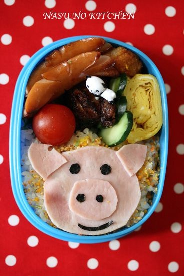 Easy Pig Bento Box Recipe