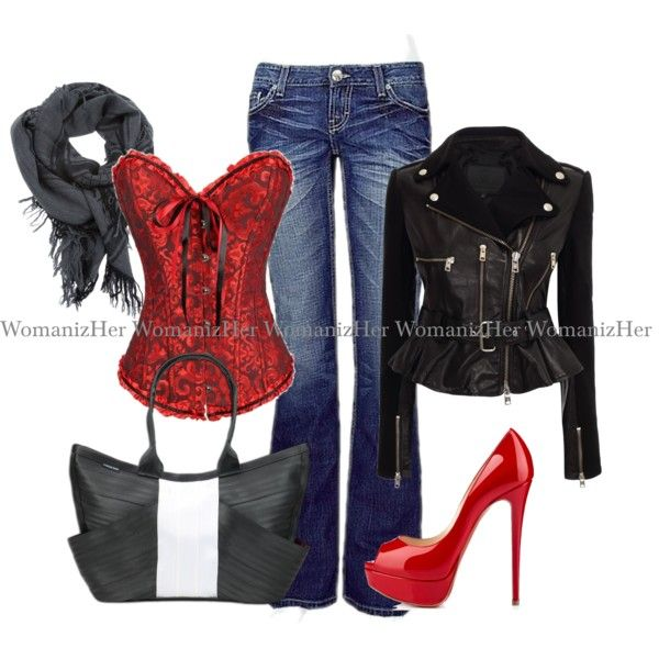 """""""Corset outfit"""" by womanizher on Polyvore"""