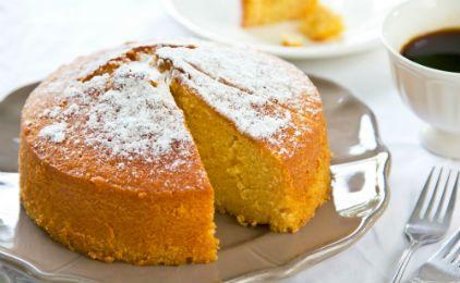Κέικ πορτοκάλι με ανθότυρο