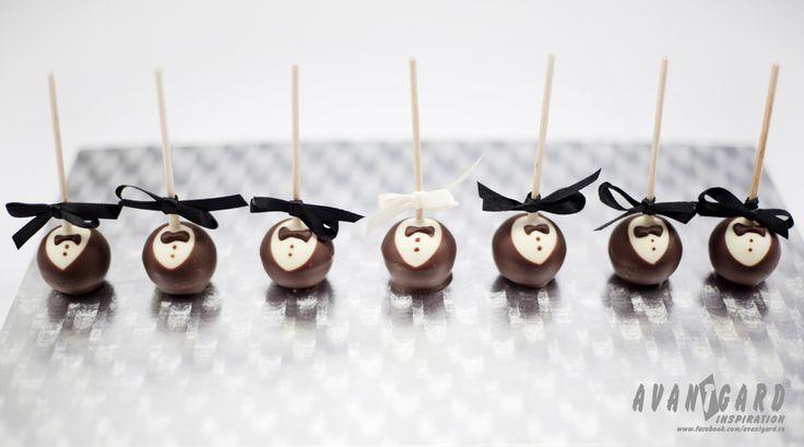 Svatební lízátka - ženich - svatební inspirace   ///   Wedding lollipops - groom - wedding inspiration