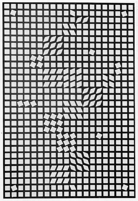 Victor Vasarely - Tlinko II, 1956