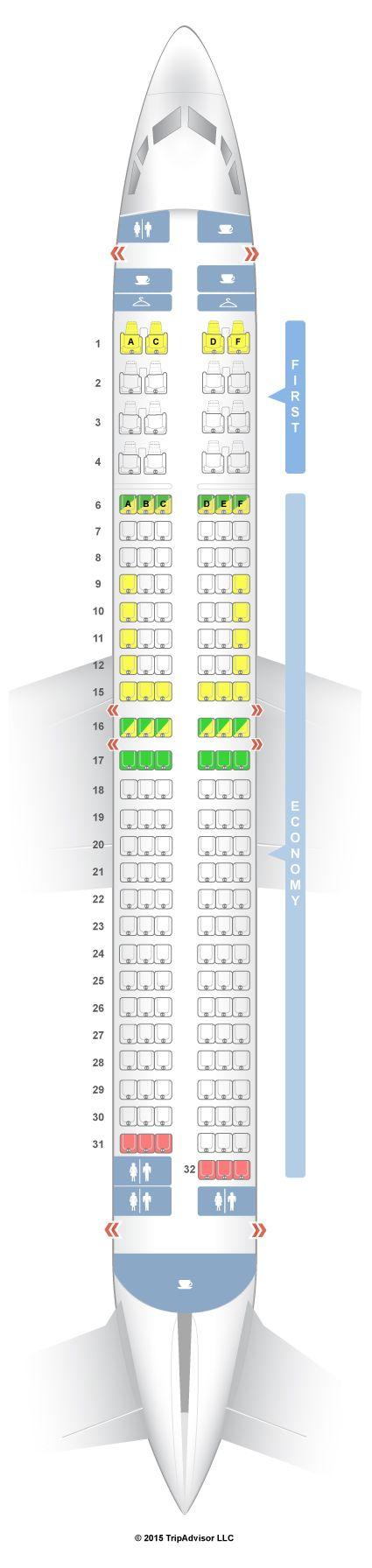 SeatGuru Seat Map Alaska Airlines Boeing 737-800 (738) Slimline
