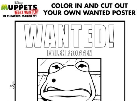 Muppets MOST WANTED Activity Page Printables | Coloring ...