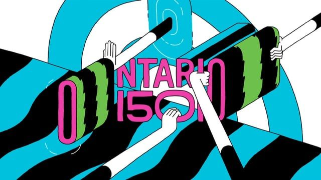 Quick animation explorations for the Ontario 150 logo  Animation team: Marylou Mao, Oliver Dead, Dani Cordero, and Jakub Szczesniak Music: White Noise lab