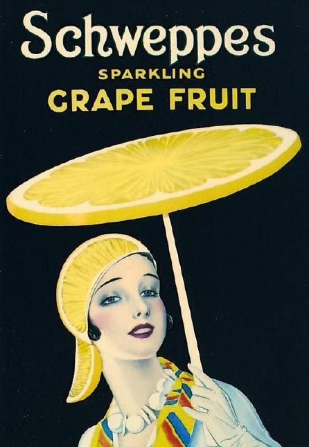 sydneyflapper: Schweppes Grapefruit… For those not merely content to garnish their drink, they can now also garnish themselves most stylish...