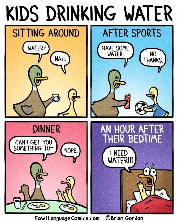 Kids drinking Water - Brian Gordon - Fowl Language Comics