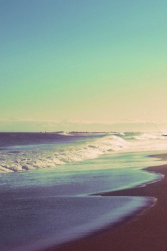The beach, summer, sand, love