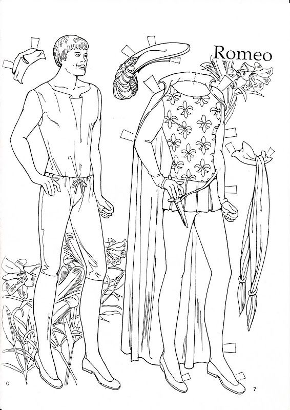 95 best paper dolls coloring art print pages colouring for adults ... - Paper Doll Clothes Coloring Pages