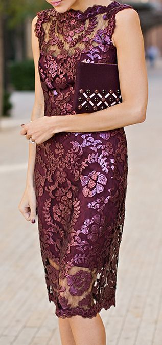 Burgundy, Sparkle lace.