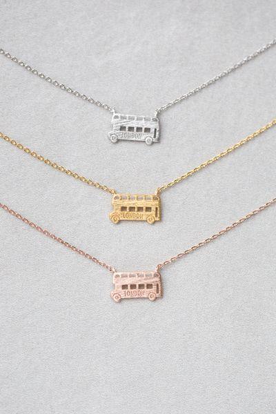 Cute London double decker bus charm necklace.