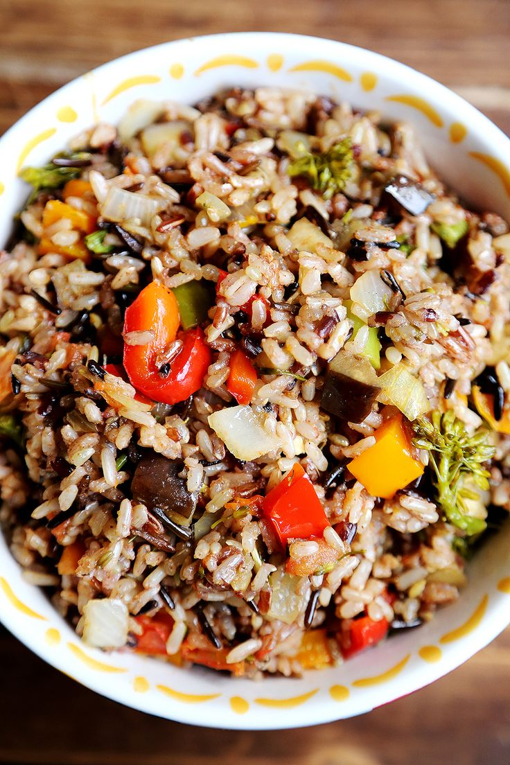Hearty Whole Grain Rice with rainbow Vegetables Bake - Grains and Legumes, Recipes - Divine Healthy Food