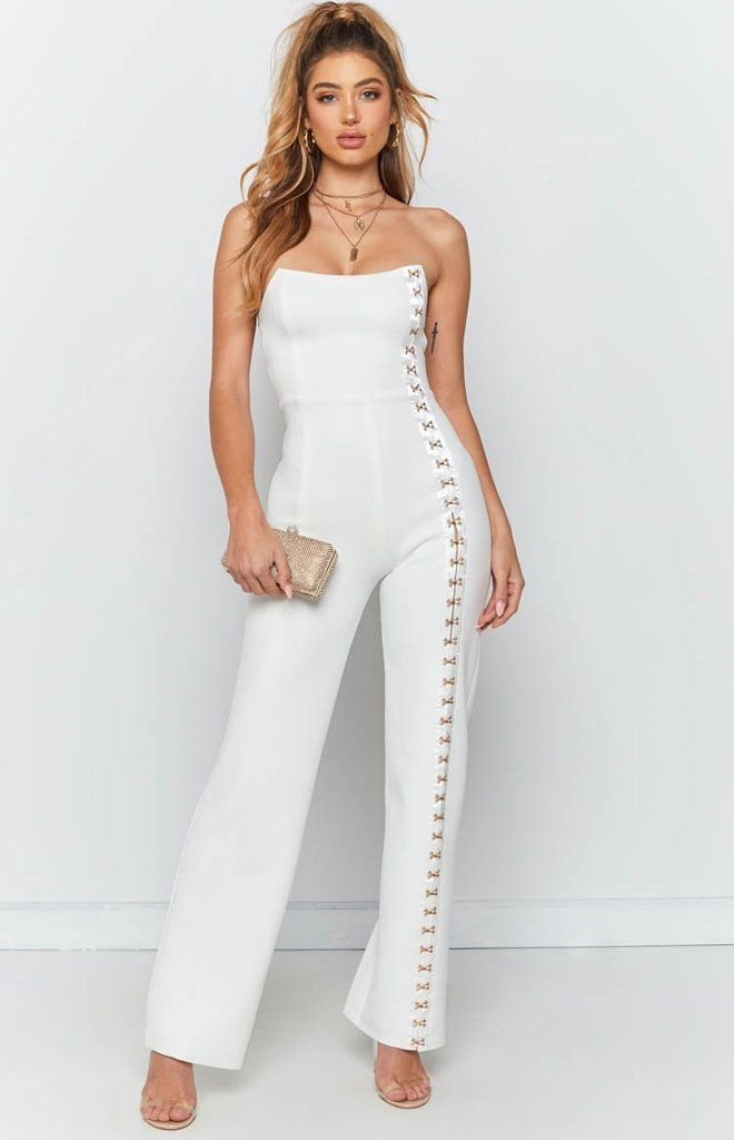 a09ddc330d1dff Times Square Jumpsuit White - XXL in 2019 | Serving looks | White ...