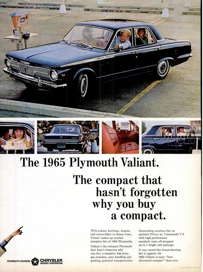 Preview of the Plymouth Valiant in 1964