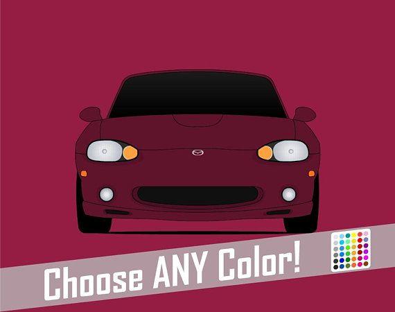 Mazda Miata Mx 5 Nb Roadster Jdm Poster Print Wall Art Decor C1 Mazda Miata Jdm Miata