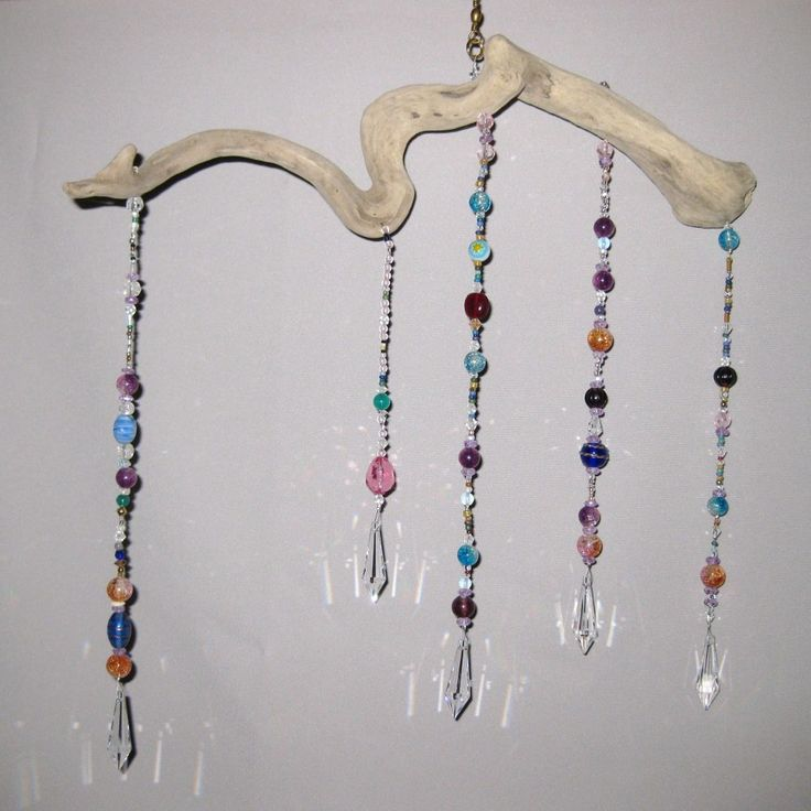 Driftwood Mobile Beads Crystals Crystal Pendants Via
