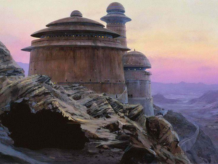 Ralph McQuarrie - Star Wars - ROTJ: Ralph McQuarrie matte painting of Jabba's...