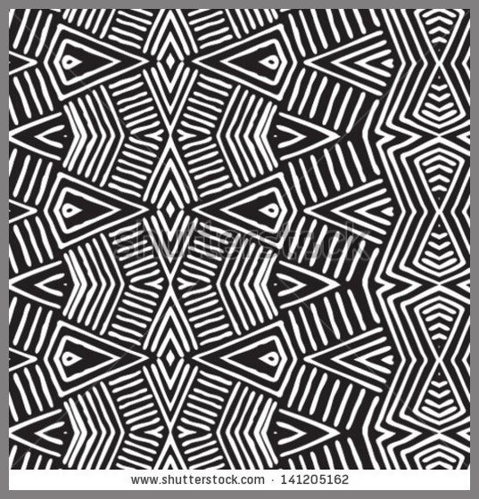 Vector African pattern seamlessly tiling Seamless pattern can be used for wallpaper, pattern fills, web page background,surface textures sea...