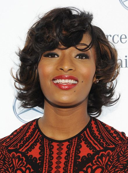 Toccara Jones Short Curls  Toccara Jones looked fabulous with her short curly hair during Fashion Week.