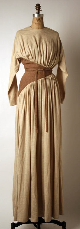 Evening Dress Madame Grès (French) ca. 1975 wool