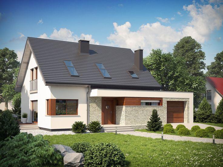 DOM.PL™ - Projekt domu AC Santiago G1 ENERGO CE - DOM AF6-83 - gotowy projekt domu
