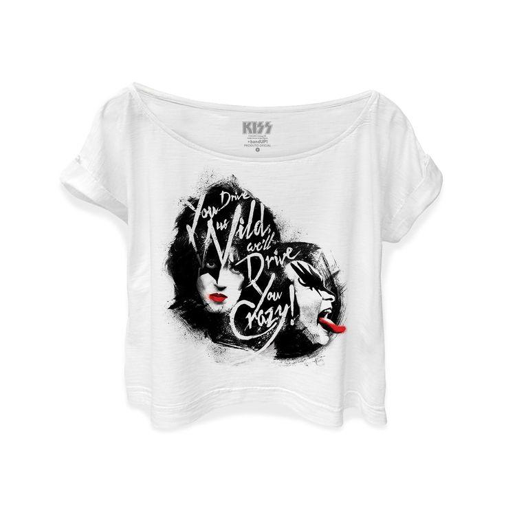 T-shirt Premium Feminina Kiss Dressed To Kill #Kiss #Rock #ShowdoKiss #DressedtoKill