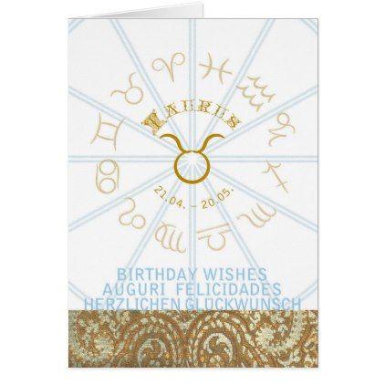 HOROSCOPE  Birthday Greeting Card Taurus - birthday gifts party celebration custom gift ideas diy
