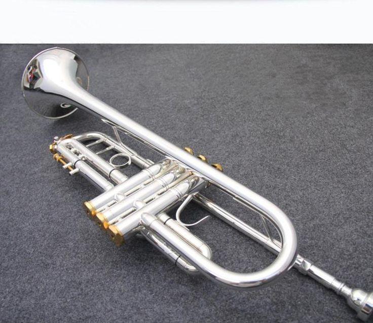 trumpet Silver Baja trumpet musical instruments LT190S-77 Descending Bb modulation Double silver plating Free shipment