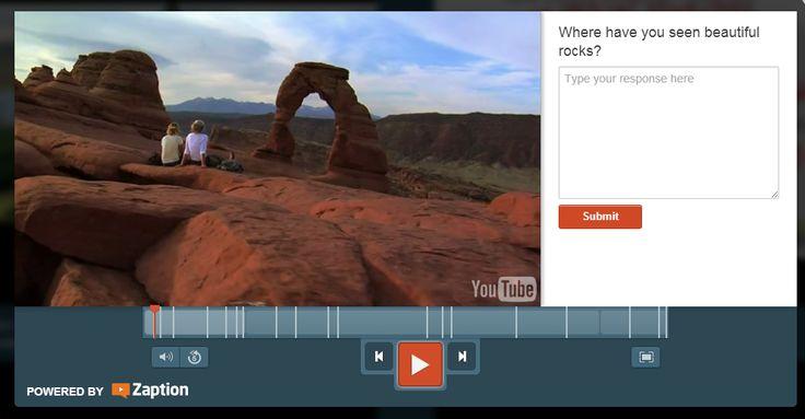 Darmowe Technologia dla nauczycieli: Zaption - quizy i do Wideo