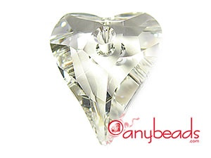 6240 Wild Heart Pendant - Clear Crystal