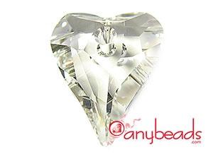 6240 Wild Heart Pendant - Clear Crystal