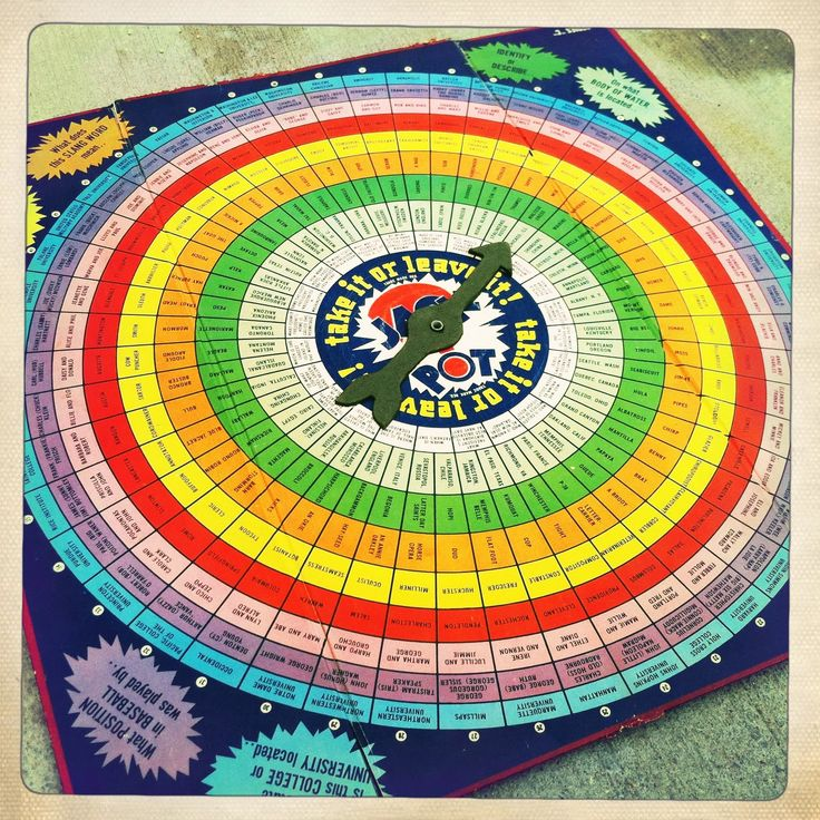 Take it or leave 1942 game board with spinner at center