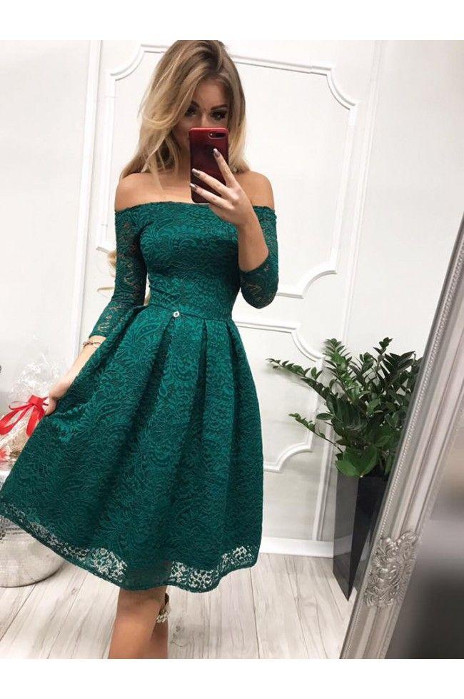 fb9452991e Sukienka wieczorowa Scarlett Midi - zielona - Pretty Clever Sklep  internetowy