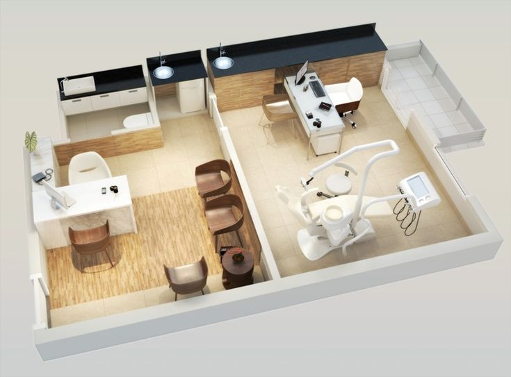 Planta isométrica - 1 sala - Consultório odontológico.   http://planoeplano.com.br/imovel/time-center-campinas